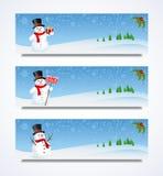 Snowman Header Royalty Free Stock Image