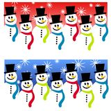 Snowman Header Backgrounds Stock Image