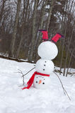 Snowman headstand stock images