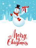 Snowman holiday cartoons stock illustration