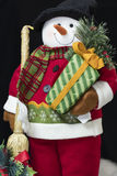 Snowman Holiday Greetings Royalty Free Stock Photography