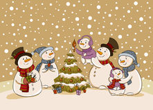 Snowman holiday party Royalty Free Stock Photo