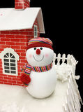 Snowman and home Royalty Free Stock Photography