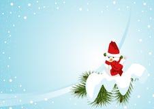 Snowman (horizontal) Royalty Free Stock Photos
