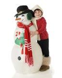 Snowman Hug Royalty Free Stock Photos