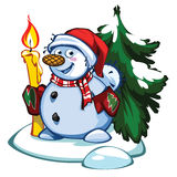 Snowman. I present to you a Christmas icon - Snowman Stock Image