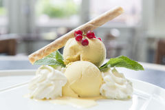 Snowman in ice cream Royalty Free Stock Photo