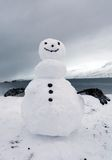 Snowman in iceland Royalty Free Stock Photography