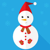 Snowman icon Royalty Free Stock Photography