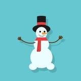 Snowman icon silhouette flat design vector Stock Image
