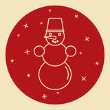 Snowman icon in thin line style Stock Photo