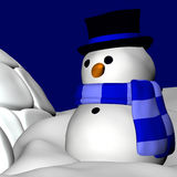 Snowman and Igloo 3 Stock Image