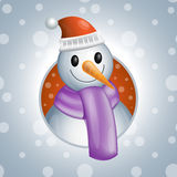 Snowman2  illsutration Stock Images