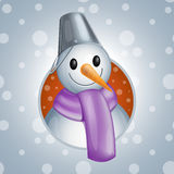 Snowman1  illsutration Royalty Free Stock Image