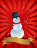 Snowman,  illustration Stock Images
