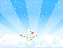 Snowman illustration Royalty Free Stock Images