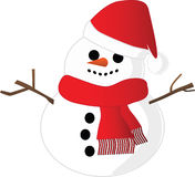 Snowman  illustration Stock Photo
