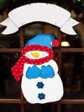 Snowman illustration royalty free stock photo
