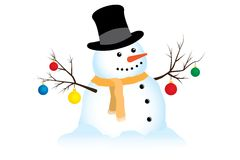 Snowman Illustration Royalty Free Stock Photo