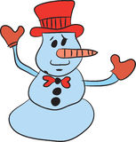 Snowman illustration Stock Image
