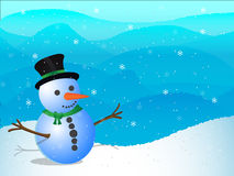 Snowman. Illustration of snowman - winter illustration Royalty Free Stock Photo