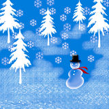 Snowman In Top-hat Royalty Free Stock Photos