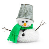 Snowman isolated Royalty Free Stock Photo