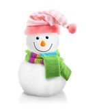 Snowman isolated. On white background Royalty Free Stock Photos