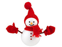 Snowman isolated on white Stock Photos