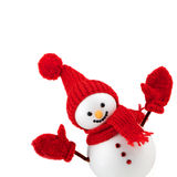 Snowman isolated on white Royalty Free Stock Image