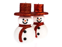 Snowman isolated on white Stock Photography