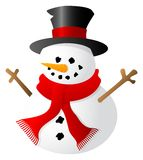 Snowman isolated on white background Stock Images