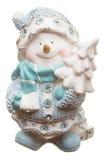 Snowman isolated on white Stock Photo