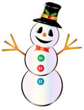 Snowman isolated on white Stock Images