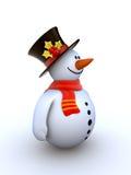 Snowman isolated winter series Stock Photos