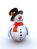 Snowman isolated winter series Stock Photo