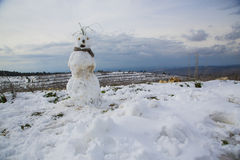 Snowman in Israel Stock Photography