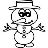 Snowman kids coloring page Royalty Free Stock Photo