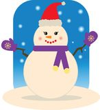 Snowman (Lady) Royalty Free Stock Photos