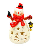 Snowman lantern Royalty Free Stock Photos