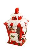 Snowman lantern angle Royalty Free Stock Image