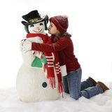 Snowman Lover Royalty Free Stock Photography