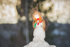 Snowman lover Stock Image