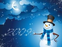 Snowman magic Royalty Free Stock Images
