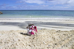 Snowman in the Maldives royalty free stock photo
