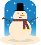 Snowman (Man) Stock Photo