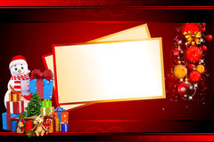 Snowman with many gifts and cards Royalty Free Stock Photography