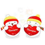 Snowman Mascot the event activity Royalty Free Stock Photo