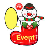 Snowman Mascot the event activity Royalty Free Stock Photography