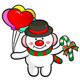 Snowman Mascot the event activity. Stock Photography